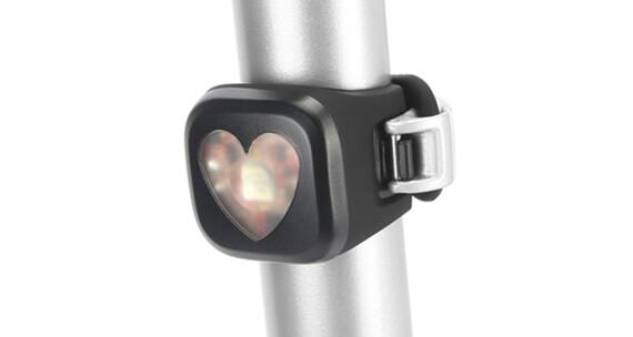 Knog Blinder fietsverlichting 1 rode led, hearts zwart